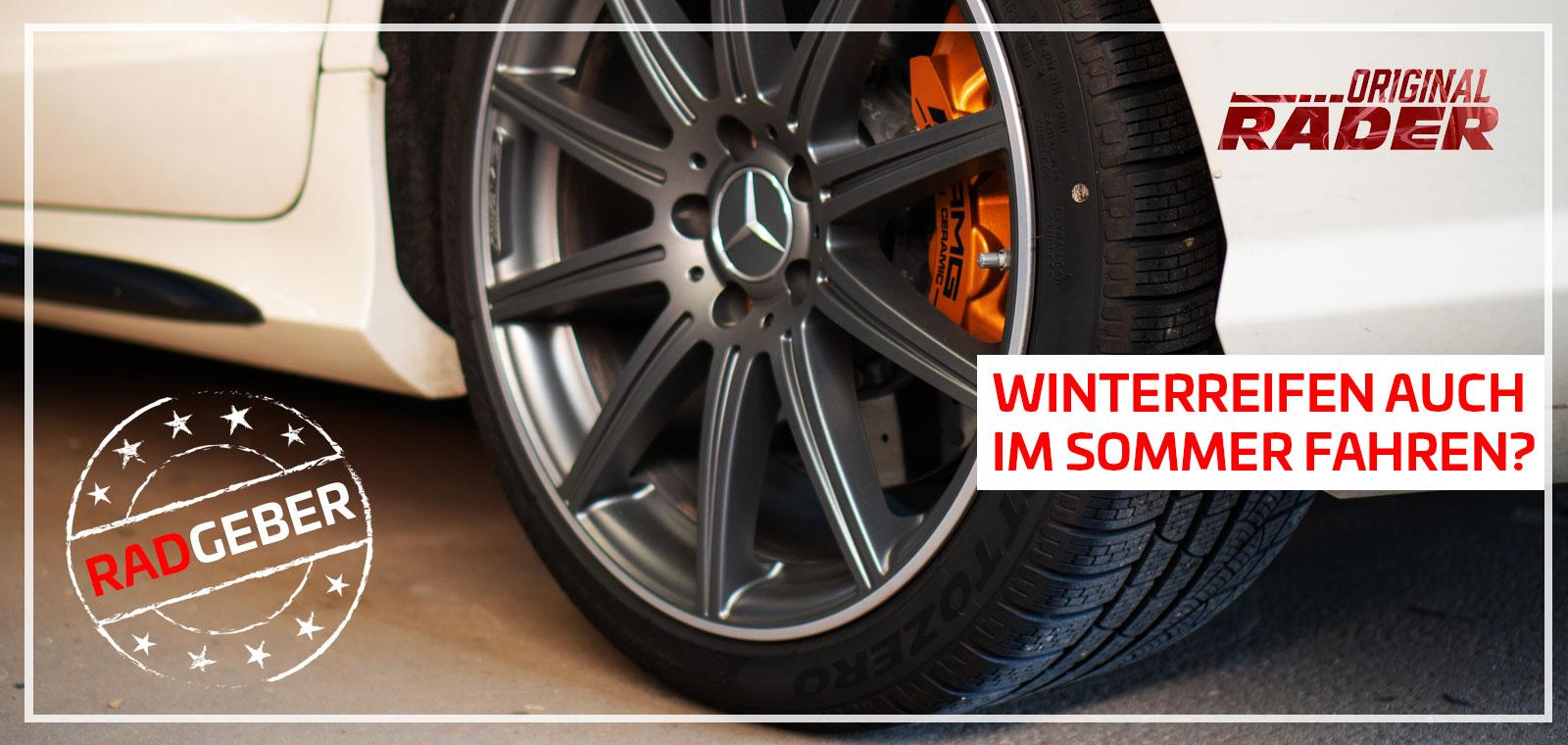 Winterreifen / Winterräder auch im Sommer fahren? Keine gute Idee! - Titelbild